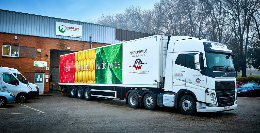 Nationwide Produce working with FareShare